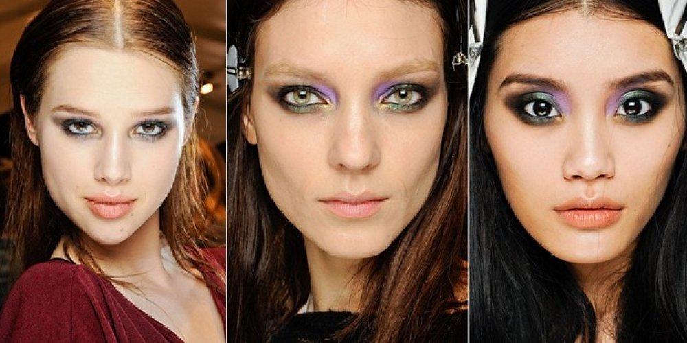 Модные тенденции макияжа в январе 2013