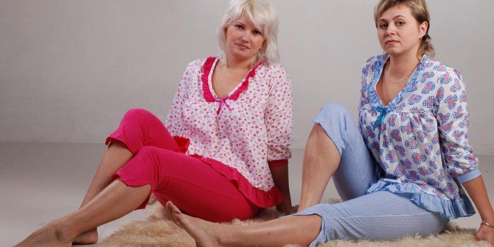 Женские трикотажные пижамы