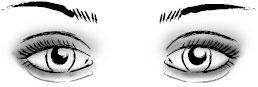 Выпухлые глаза