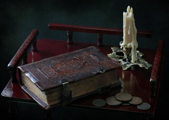 книги в кожаном и стандартном переплёте