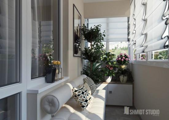 Правильный интерьер для лоджии и балкона