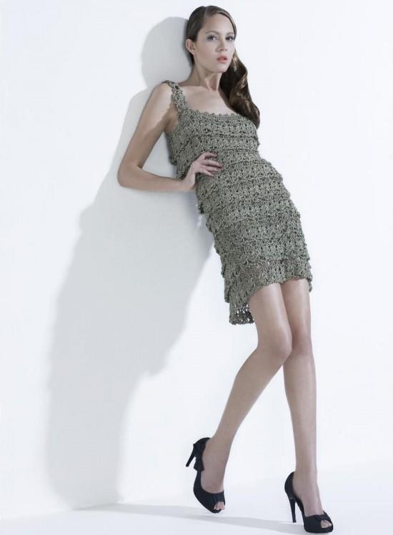 Модные вязаные платья 2