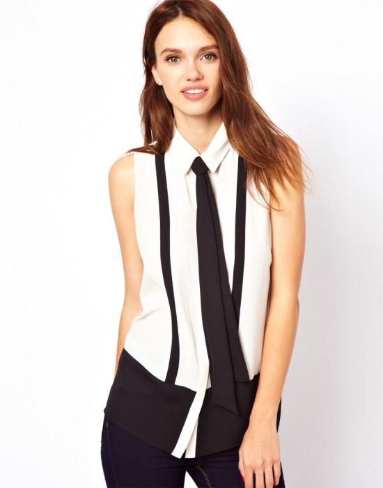 Стильно и необычно — примеряем женский галстук1