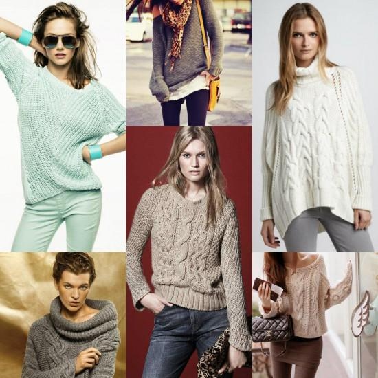 Какие свитера модно носить осенью.,