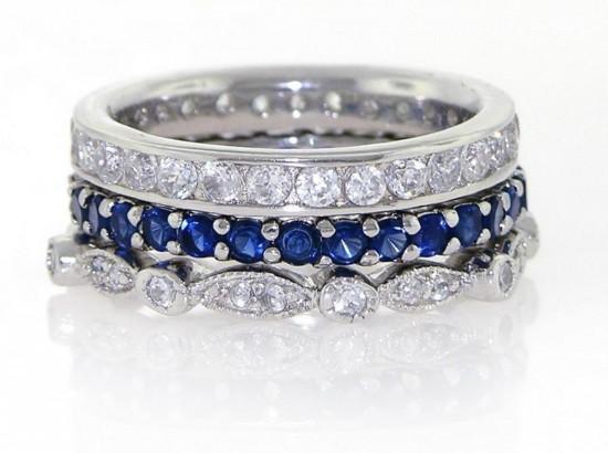 Серебряные кольца с фианитами 2